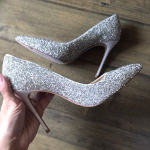 Vince Camuto imagine Olson silver sparkle heels 7